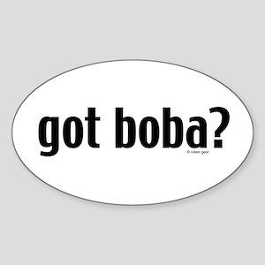"""""""got boba?"""" Oval Sticker"""