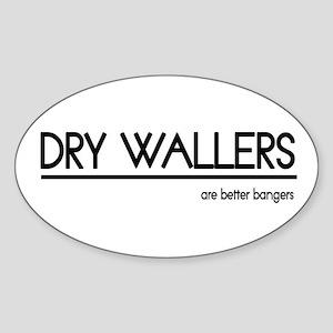 Dry Waller Joke Oval Sticker