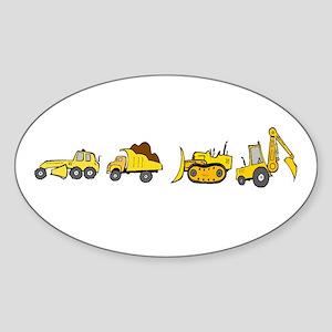Trucks! Oval Sticker