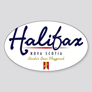 Halifax Script W Sticker (Oval)