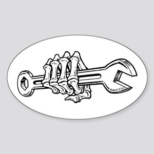 Skeleton Hand with Wrench (White/Horizontal) Stick