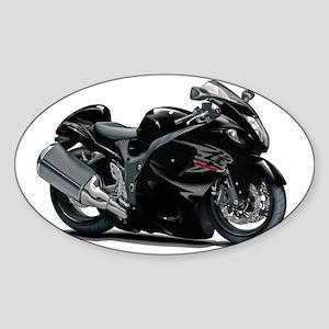 2-Hayabusa Black Bike Sticker (Oval)