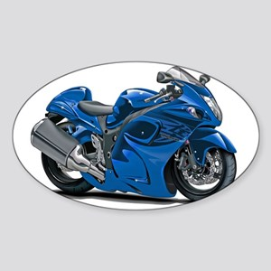 2-Hayabusa Blue Bike Sticker (Oval)