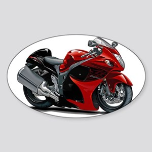 2-Hayabusa Red-Black Bike Sticker (Oval)