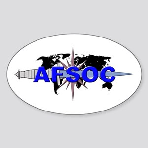 AFSOC (new) Sticker (Oval)