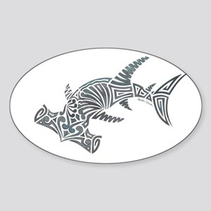 Tribal Hammerhead Shark Sticker