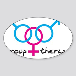 group-therapy-bgb Sticker (Oval)