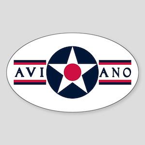 Aviano Air Base Oval Sticker