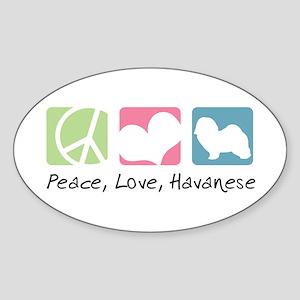 Peace, Love, Havanese Sticker (Oval)