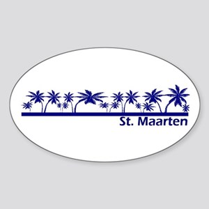 St. Maarten Oval Sticker