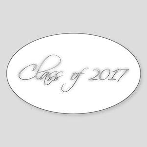 GRADUATION - Class of 2017 - script design Sticker