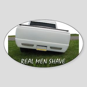 Real Men Shave Oval Sticker