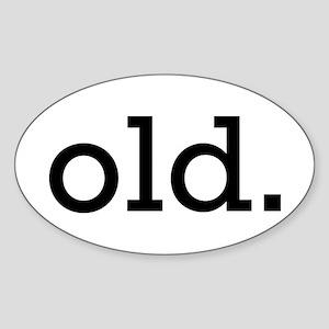 Old Oval Sticker