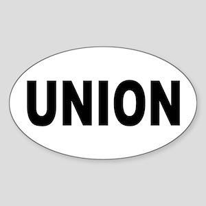 Union Sticker (Oval)