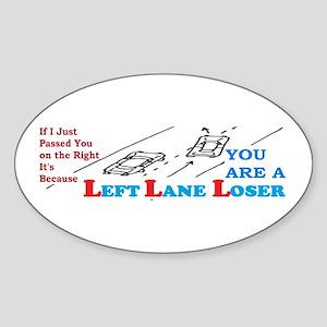 LEFTLANE LOSER Sticker (Oval)