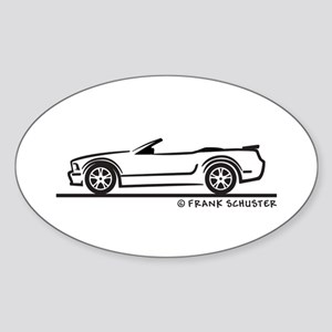 Ford GT Mustang Convertible Sticker (Oval)