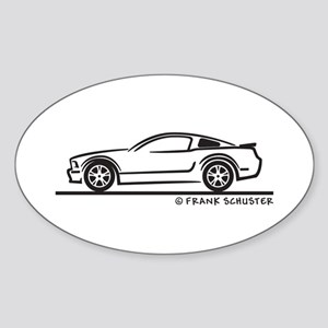 Ford Mustang GT Fastback Sticker (Oval)