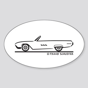 1963 Ford Thunderbird Convertible Sticker (Oval)