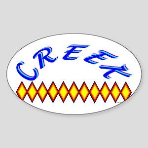 CREEK TRIBE Sticker (Oval)