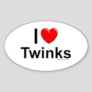 Twinks Sticker (Oval)