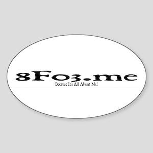 8Fo3.me Sticker (Oval)