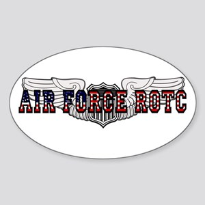 ROTC Pilot Wings Oval Sticker