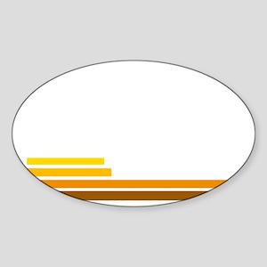 70s Sticker (Oval)