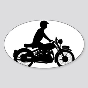 Motor Cyclist Silhouette Sticker