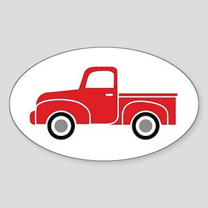 Vintage Red Truck Sticker