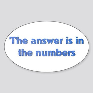 4 8 15 16 23 42 LOST Numbers gift Oval Sticker