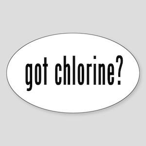 got chlorine? Oval Sticker