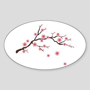Cherry Blossom Flowers Branch Sticker