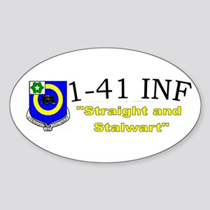 1st Bn 41st Inf Sticker (Oval)
