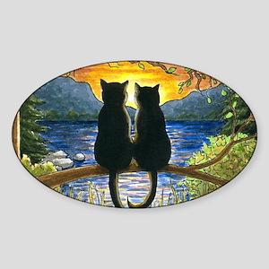 Cat 582 Sticker (Oval)