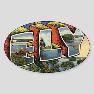 Ely_PrintFramed Sticker (Oval)