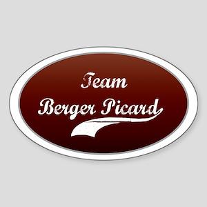 Team Berger Oval Sticker