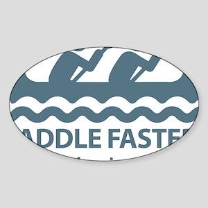 PaddleFasterIHearBanjoMusic-Blue Sticker (Oval)
