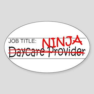 Job Ninja Daycare Sticker (Oval)