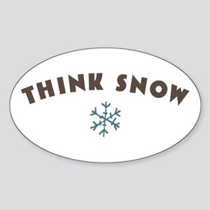 Think Snow Sticker
