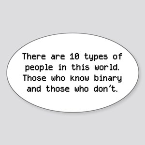 10 Types Of People Oval Sticker