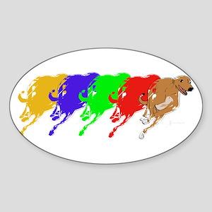 Running Greyhound Sticker (Oval)
