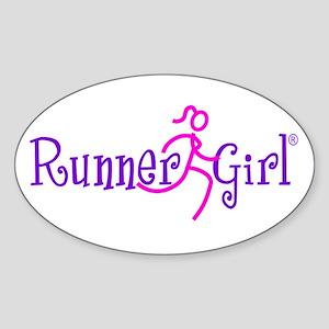 RunnerGirl Oval Sticker PPN