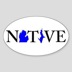 Native Michigander Sticker