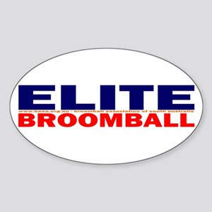 Elite Broomball Oval Sticker
