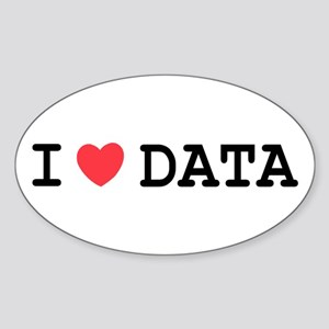 I Heart Data Oval Sticker