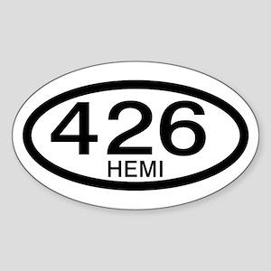Mopar Vintage Muscle Car 426 Hemi Oval Sticker