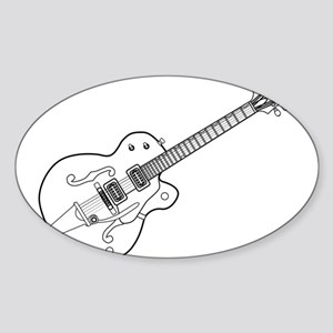 Country and Western Guitar Outline Sticker