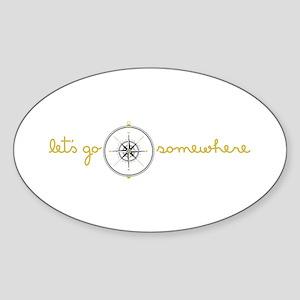 Go Somewhere Sticker