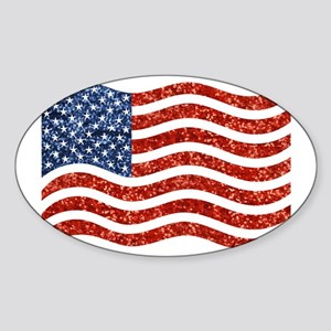 sequin american flag Sticker