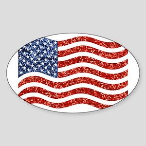 sequin american flag Sticker